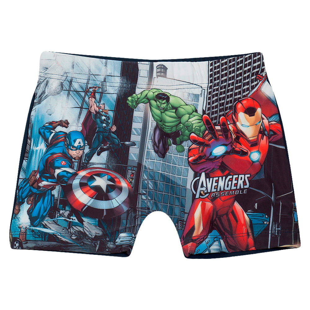 Sunga Infantil - Disney - Marvel - Vingadores - Grafite - Tip Top