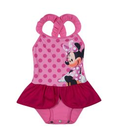 211143b3a Maiô Infantil - Disney - Minnie Mouse - Rosa - Tip Top