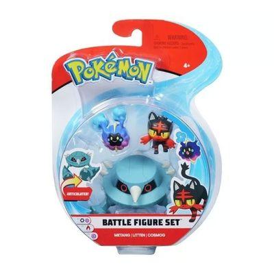 Conjunto-de-Figuras---Pokemon---3-Bonecos---MetangLittenCosmog--DTC