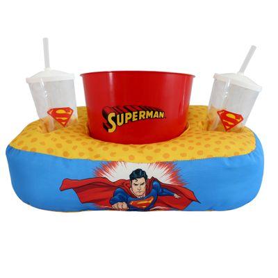 Almofada-com-Copo-e-Balde-de-Pipoca---DC-Comics---Liga-das-Justica---Superman---Zona-Criativa