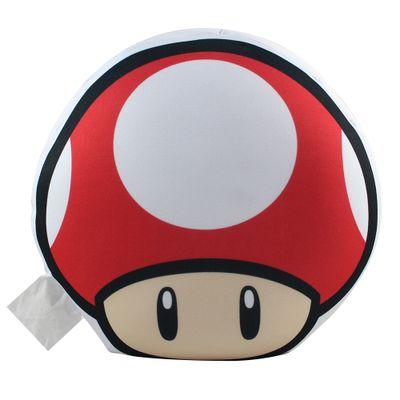 Almofada---Super-Mario-Bros---Formato-Cogumelo---Vermelho---Zona-Criativa