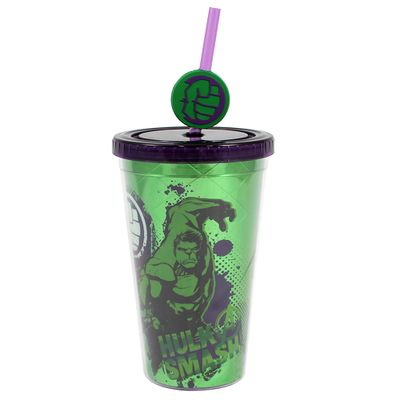 Copo-com-Canudo---500Ml---Disney---Marvel---Hulk---Zona-Criativa