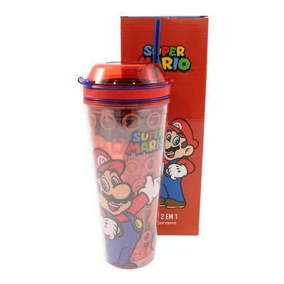 Copo-com-Tampa-e-Canudo---2-em-1---650Ml---Super-Mario-Bros---Zona-Criativa