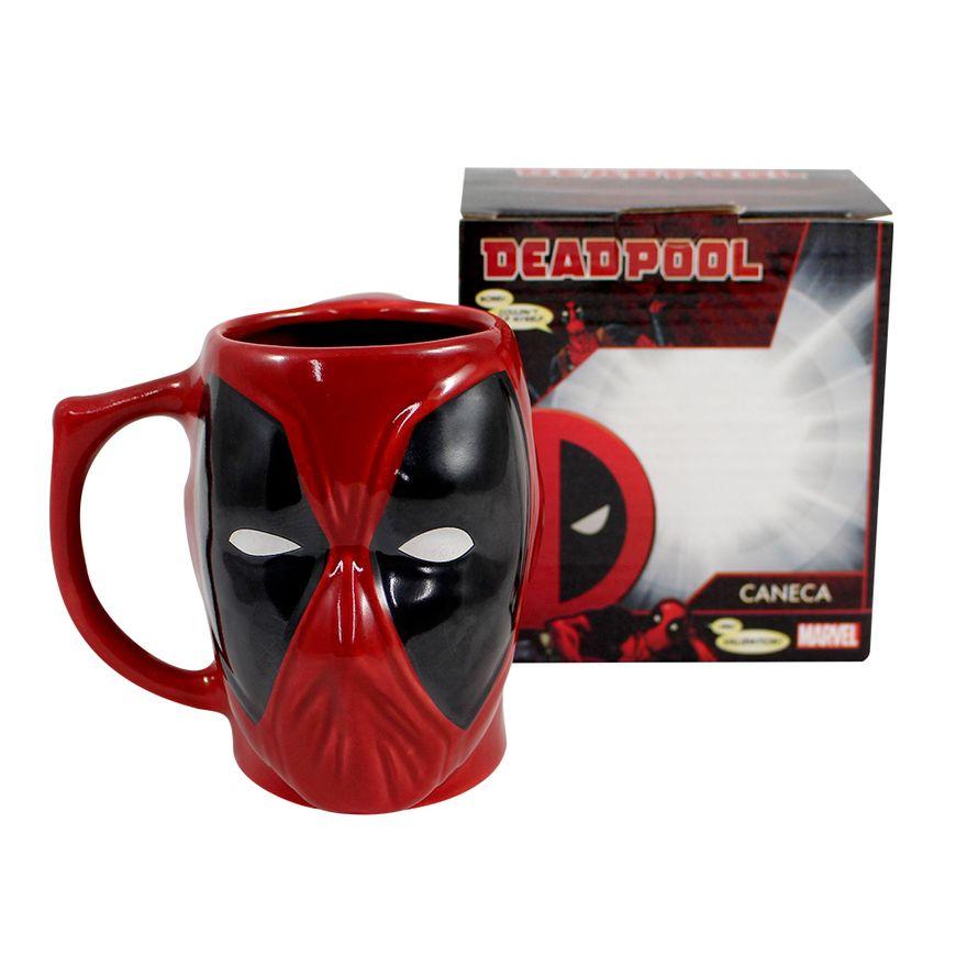 Caneca-3D---400Ml---Disney---Marvel---Deadpool---Zona-Criativa