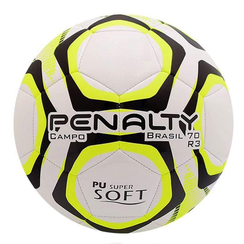 fbc236258 Bola de Futebol - Campo - Brasil 70 - R3 IX - Branca e Amarela ...