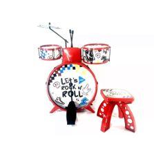 Bateria-Acustica-Infantil-Musical-com-Banquinho---Show---Toyng