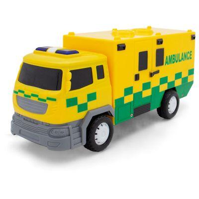Veiculo-com-Som-e-Luz---Friccao---14Cm---Super-Caminhao-de-Ambulancia---Toyng