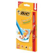 Lapis-de-Cor-com-Pincel---12-Cores---Aquarelavel---BIC