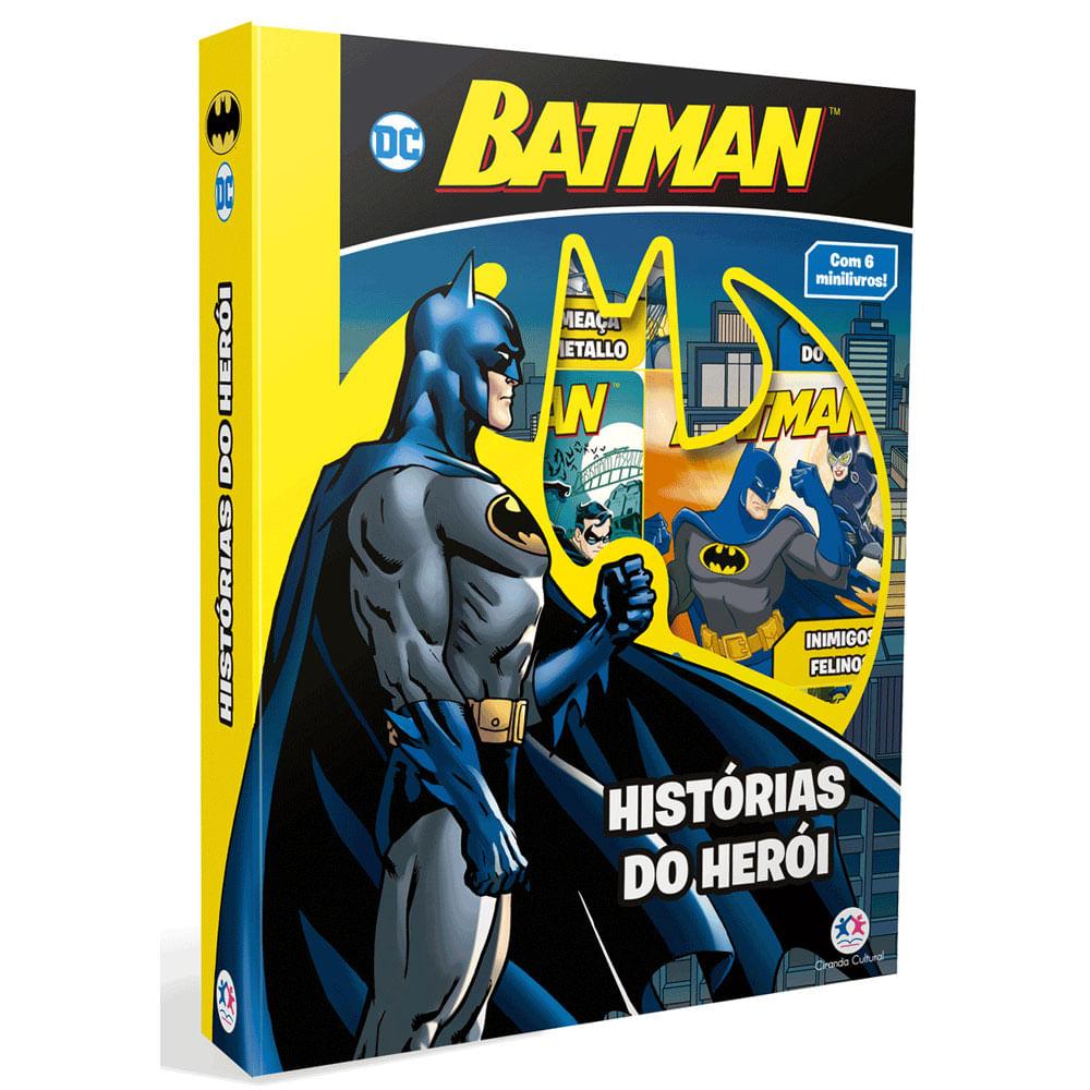 Conjunto com 6 Minilivros - DC Comics - Batman - Histórias do Herói - Ciranda Cultural
