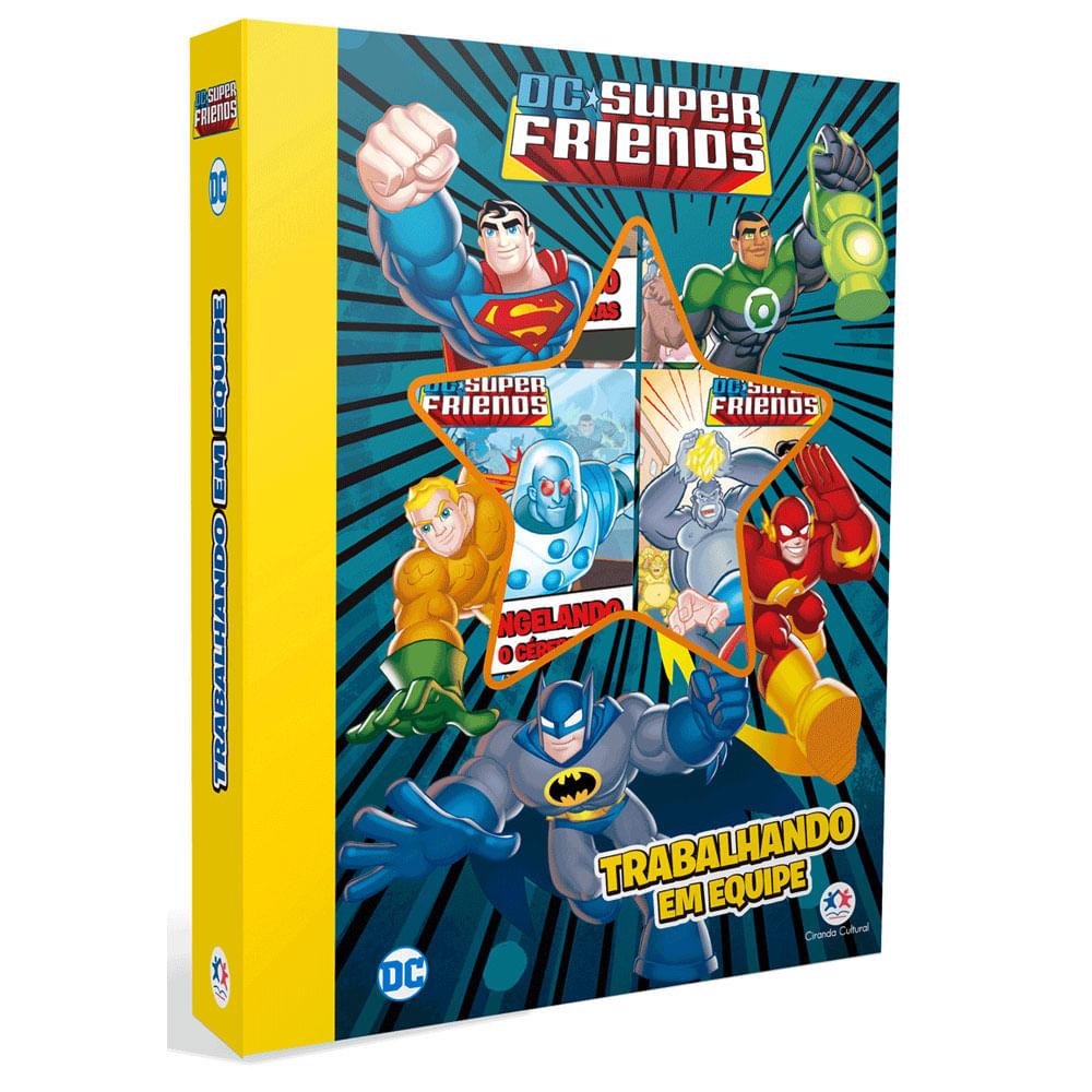Conjunto com 6 Minilivros - DC Comics - Super Friends -Trabalhando em Equipe - Ciranda Cultural