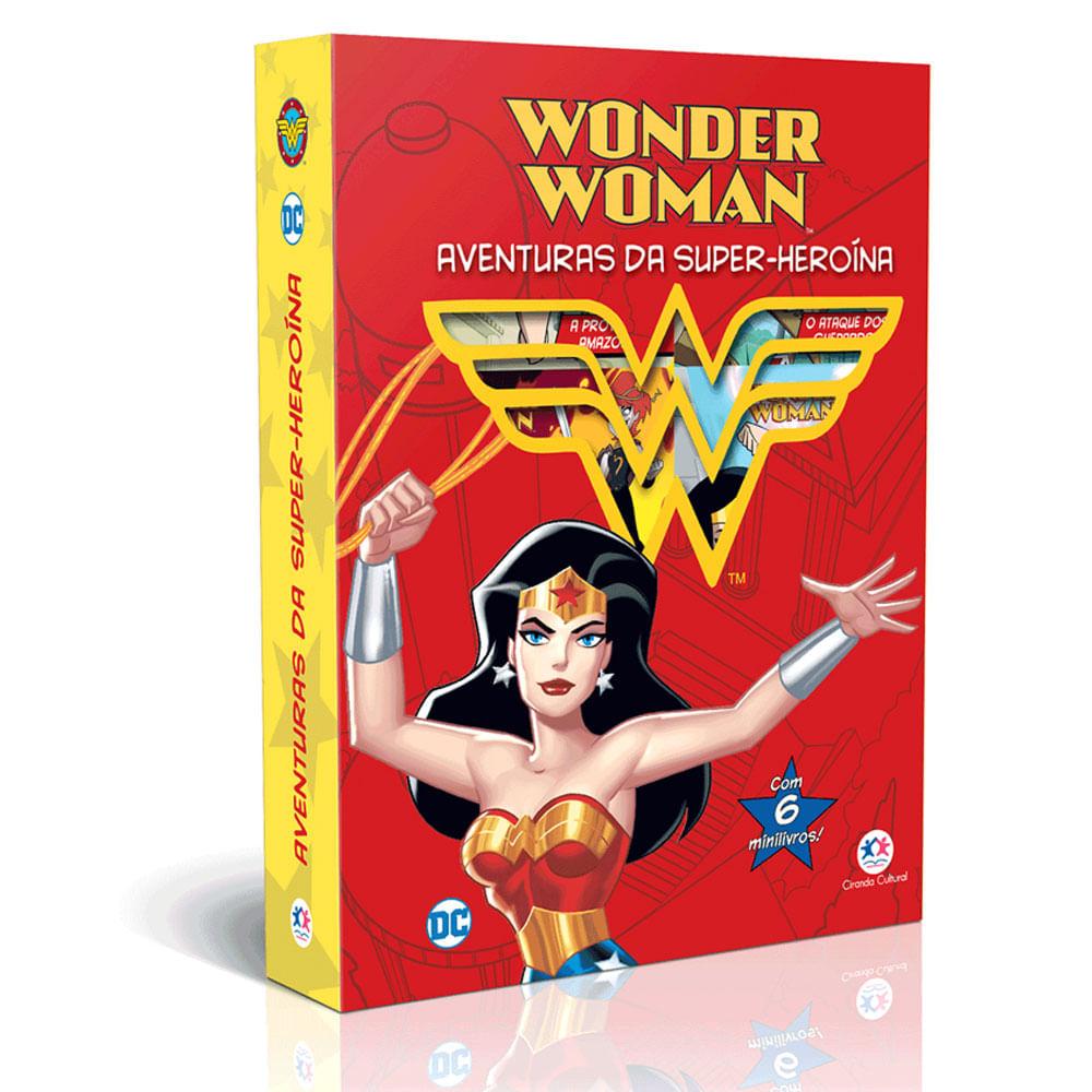 Conjunto com 6 Minilivros - DC - Mulher Maravilha - Aventuras da Super-heroína - Ciranda Cultural