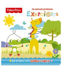 Livro---Fisher-Price---Primeiro-Quebra-Cabeca---Os-Animais-praticam-Exercicios---Ciranda-Cultural