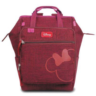 Mochila-Maternidade---Baby-Bag---Casual-Luxo---Disney---Minnie---Vinho---Baby-Go