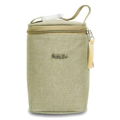 Porta-Mamadeira---Baby-Bag---Armazena-4-Unidades---Bege-Escuro---Dermiwil