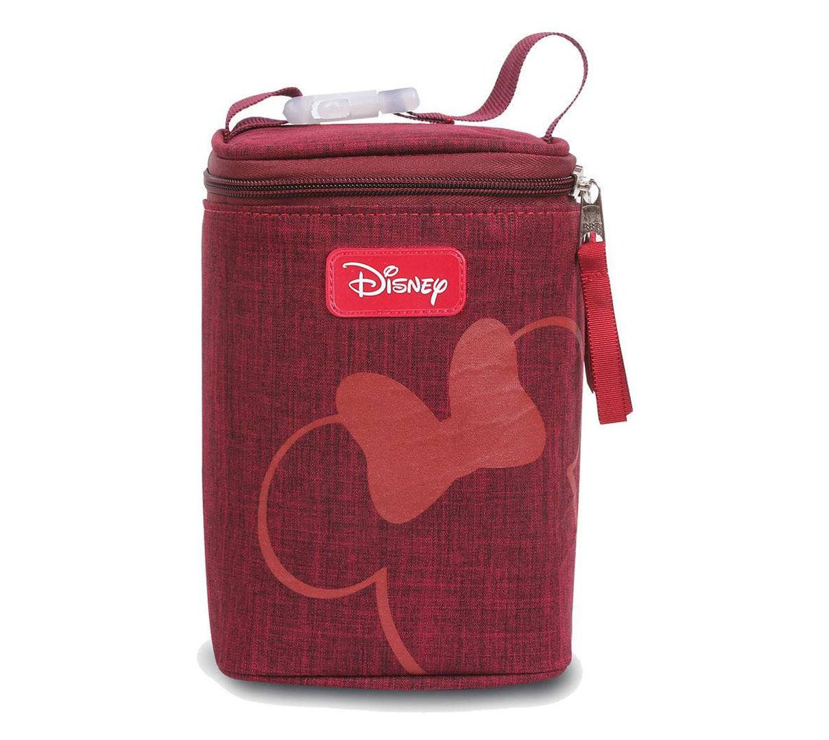 Porta Mamadeiras Térmico - 4 Compartimentos - Baby Bag - Disney - Vermelha - BabyGo