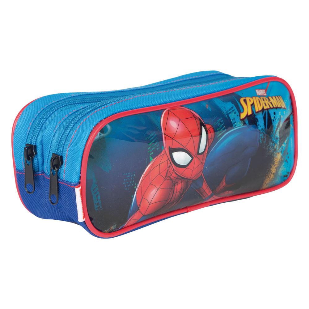 Estojo - 2 Divisórias - Spider-Man - Marvel - Disney - Sestini