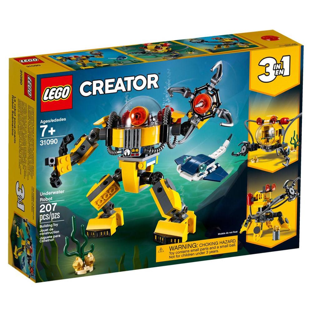 LEGO Creator - 3 em 1 - Robôs Subaquáticos - 31090