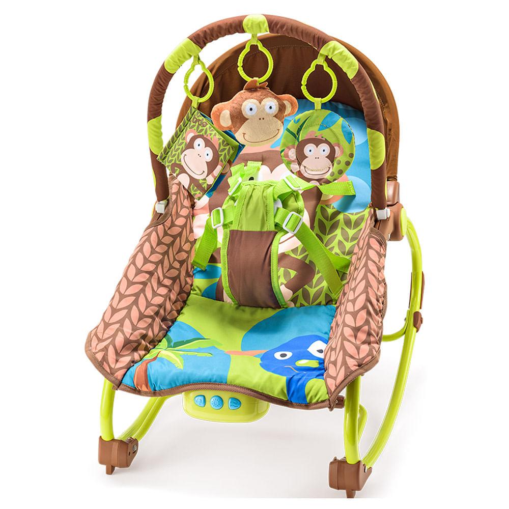 Cadeirinha de Balanço Reclinável - Macacos - Multikids Baby
