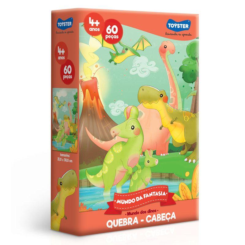 e29bc9aff Quebra-Cabeça - Mundo Da Fantasia - 60 Peças - Dinossauro - Toyster - Ri  Happy Brinquedos