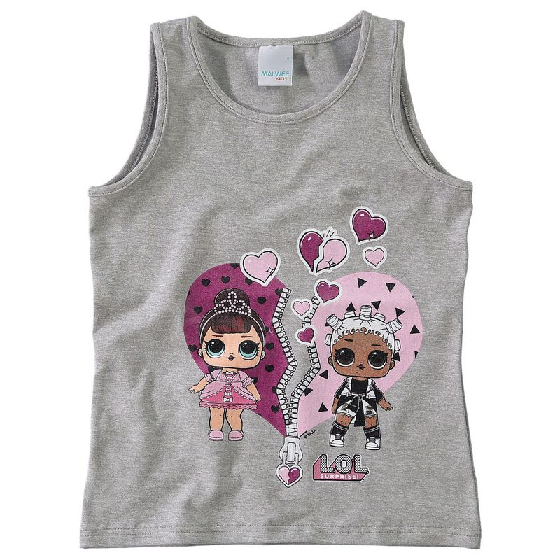 Regata Infantil - Cotton - Mescla Estampada - LOL Surprise! - Malwee - Ri  Happy Brinquedos 931a67b3f05eb