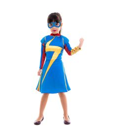Fantasia Infantil - Miss Marvel - Clássica - Marvel - Disney - Global Fantasias - G