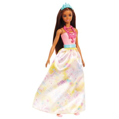 Boneca Barbie Barbie Dreamtopia Princesas Morena Mattel