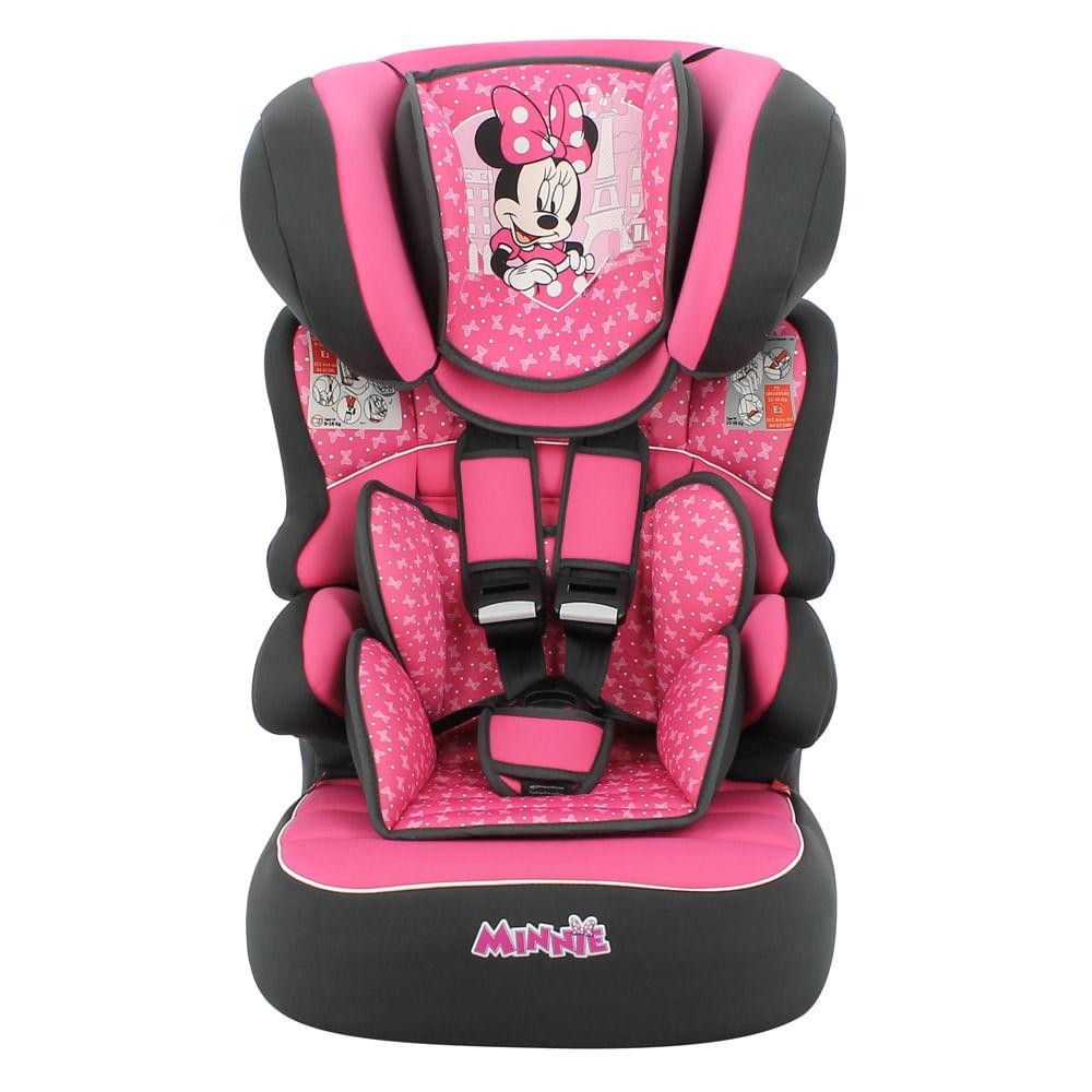 Cadeira Para Auto - De 09 a 36 kg - Beline Luxe - Disney - Minnie Mouse - Paris - Team Tex