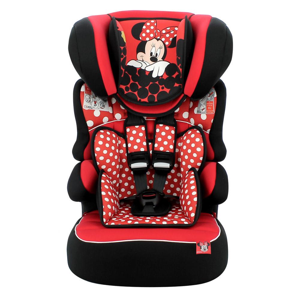 Cadeira Para Auto - De 09 a 36 kg - Beline Luxe - Disney - Minnie Mouse - Red - Team Tex