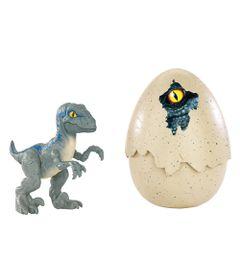 Mini-Figura-Articulada---Jurassic-World-2---Ovos-Jurassicos---Velociraptor-Blue---Mattel