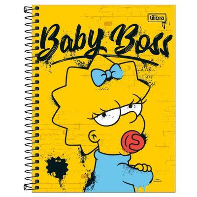 caderno-de-espiral-capa-dura-colegial-simpsons-baby-boss-maggie-10-materias-tilibra--232912_Frente