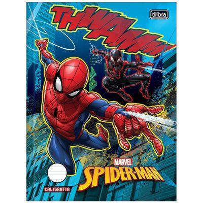 Caderno-de-Brochura---Caligrafia---Disney---Marvel---Spider-Man---40-Folhas---Tilibra