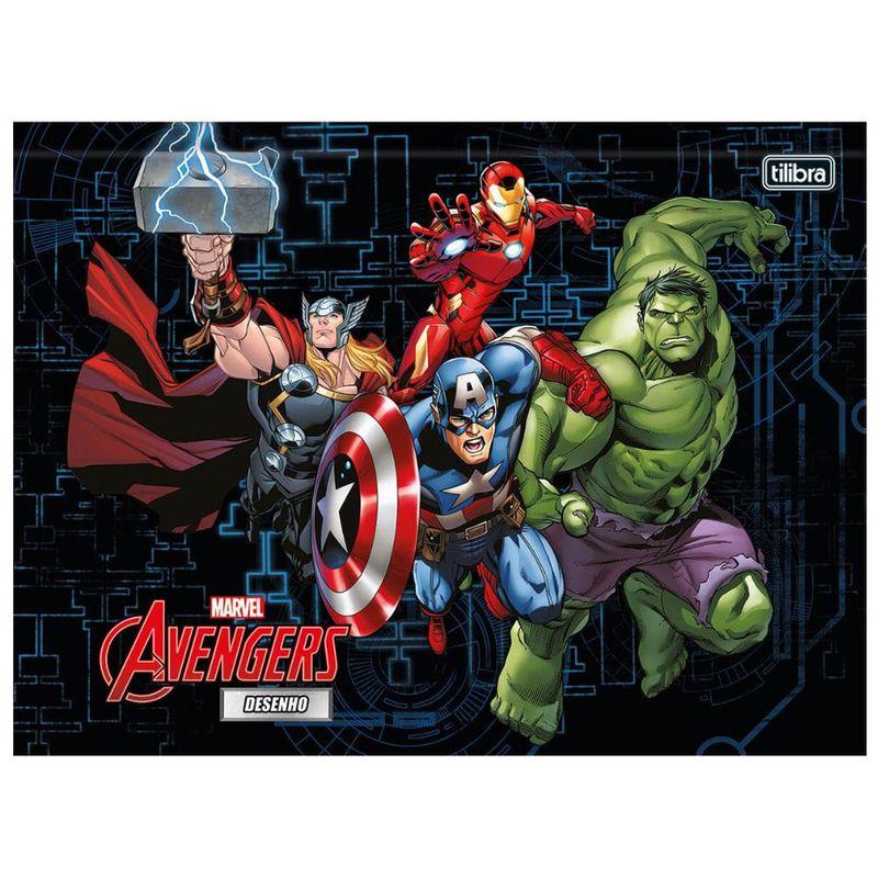 Caderno De Brochura Capa Dura Universitario Disney Marvel