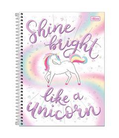 Caderno-de-Espiral---Capa-Dura---Colegial---Blink---Like-A-Unicorn---10-Materias---Tilibra