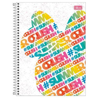Caderno-de-Espiral---Capa-Dura---Colegial---Disney---Minnie-Mouse---Crush-Summer---10-Materias---Tilibra