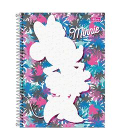 Caderno-de-Espiral---Capa-Dura---Colegial---Disney---Minnie-Mouse---Fashion---10-Materias---Tilibra