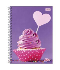 Caderno-de-Espiral---Capa-Dura---Colegial---Feminino---Cupcake---10-Materias---Tilibra