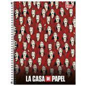 Caderno-de-Espiral---Capa-Dura---Colegial---La-Casa-De-Papel---Refens---10-Materias---Tilibra