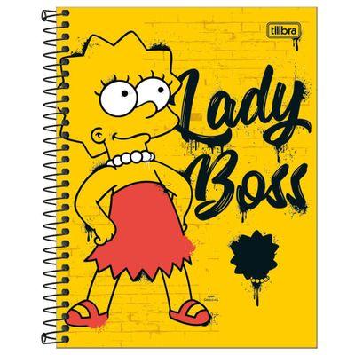 Caderno-de-Espiral---Capa-Dura---Colegial---Simpsons---10-Materias---Tilibra