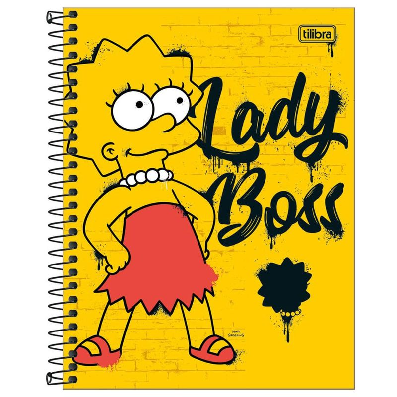 491b76cf3f Caderno de Espiral - Capa Dura - Colegial - Simpsons - 10 Matérias -  Tilibra - Ri Happy Brinquedos
