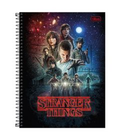 Caderno-de-Espiral---Capa-Dura---Colegial---Stranger-Things---Personagens---10-Materias---Tilibra