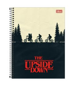 Caderno-de-Espiral---Capa-Dura---Colegial---Stranger-Things---The-Upside-Down---10-Materias---Tilibra