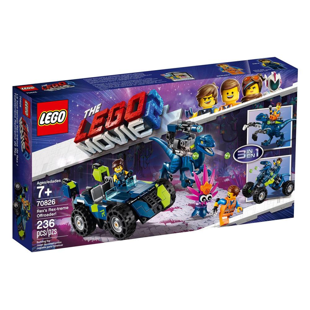 LEGO Movie - O Filme 2 - 3 em 1 - Veículo T-Rex Rex-Threme - 70826