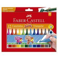 Canetas-Hidrograficas---Jumbo---Triangular---12-Cores---Faber-Castell