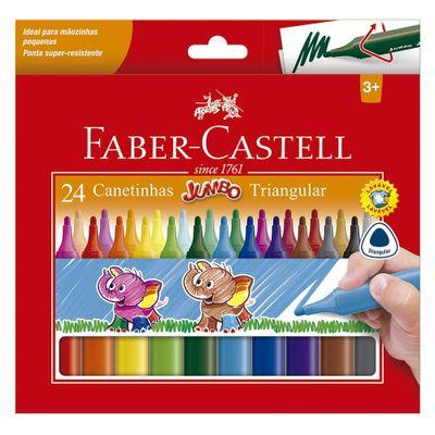Canetas-Hidrograficas---Jumbo---Triangular---24-Cores---Faber-Castell