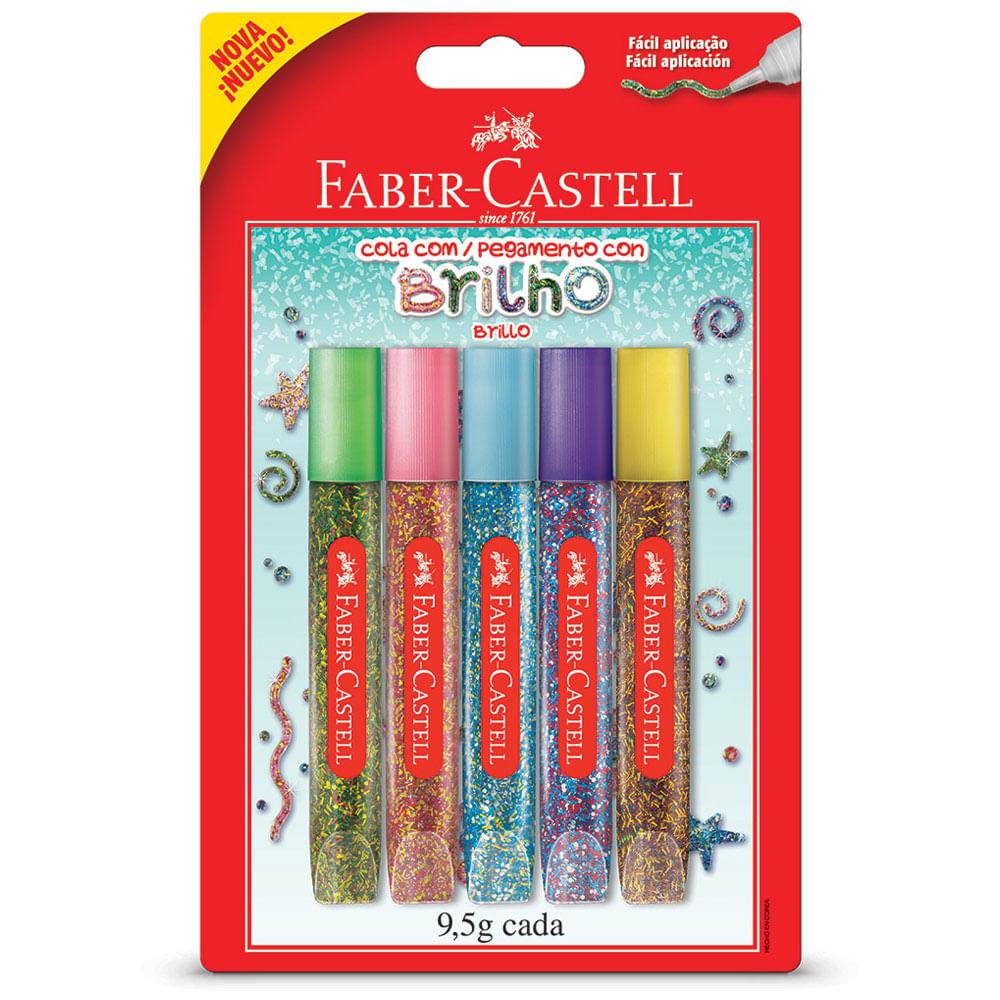 Cola com Glitter - 5 Cores - Faber-Castell