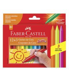 Giz-de-Cera---Gizao-Jumbo---15-Cores---Faber-Castell