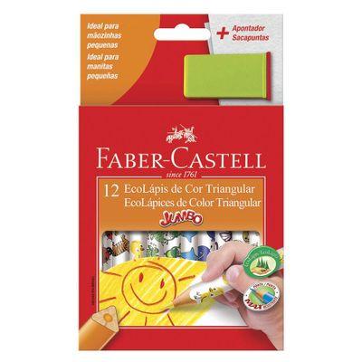 Lapis-de-Cor-e-Apontador---Ecolapis-Jumbo---12-Cores---Faber-Castell