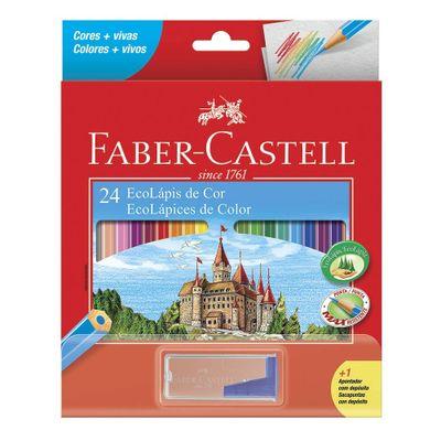 Lapis-de-Cor-E-Apontador---Sextavado---Ecolapis---24-Cores---Faber-Castell