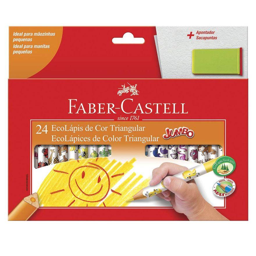 Lapis-de-Cor---Ecolapis-Jumbo---24-Cores---Faber-Castell