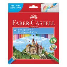 Lapis-de-Cor---Ecolapis---Sextavado---48-Cores---Faber-Castell